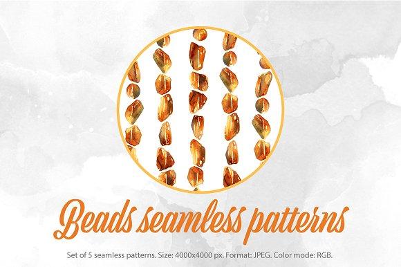 SALE Beads Seamless Patterns JPEG