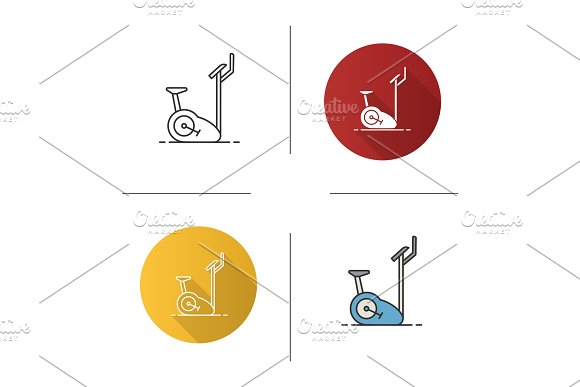 Exercise Bike Icon