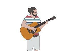 Illustration of bearded man