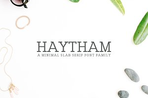 Haytham Slab Serif 7 Fonts Packs