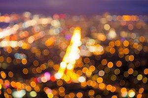 Blurry city lights background