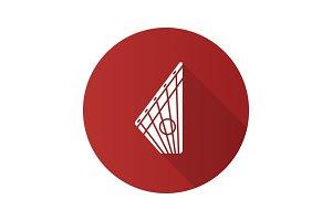 Gusli flat design long shadow glyph icon
