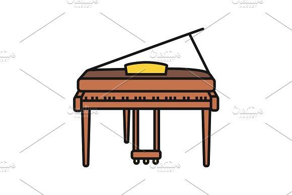 Piano Color Icon