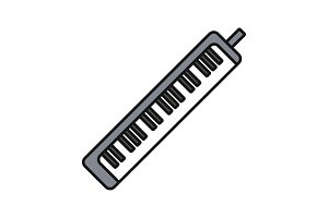 Melodica color icon