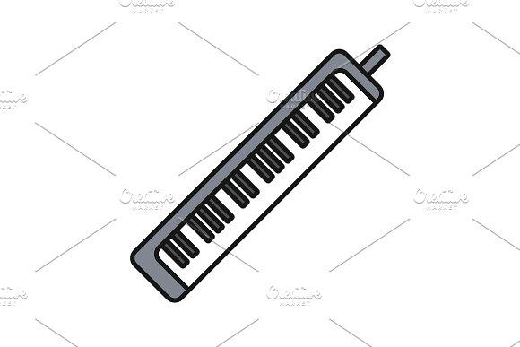 Melodica Color Icon