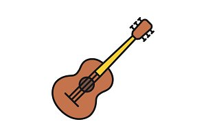 Guitar color icon