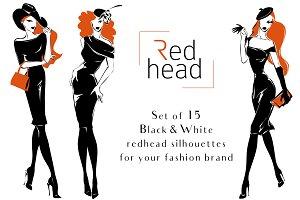 Redhead Fashion Silhouettes