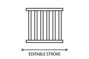 Prison bars linear icon