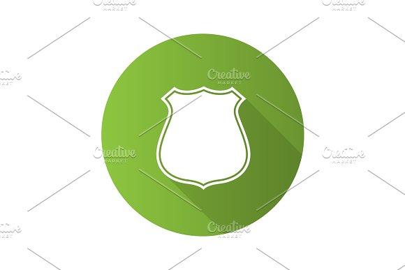 Badge Emblem Flat Design Long Shadow Glyph Icon