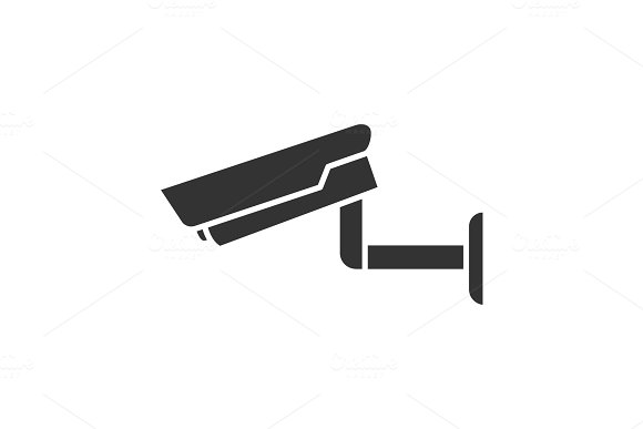 Surveillance Camera Glyph Icon