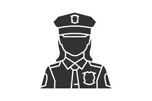 Policewoman glyph icon