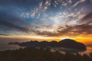 Phi Phi Island at Sunset