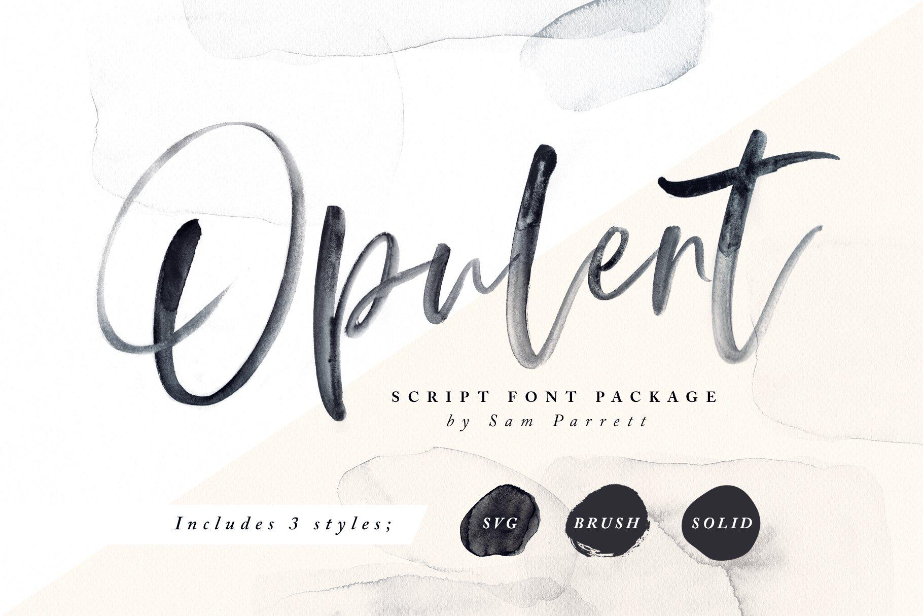 opulent font svg script fonts creative market