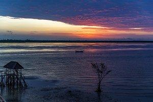 Sunrise over Lamu Harbour