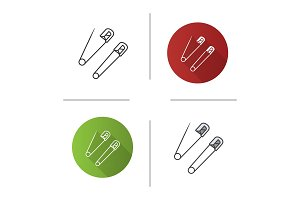 Safety pins icon