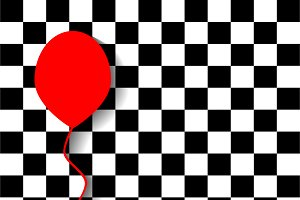 Red balloon background pop art