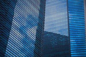 Blue Skyscraper Background