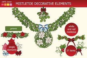 Mistletoe decorative elements