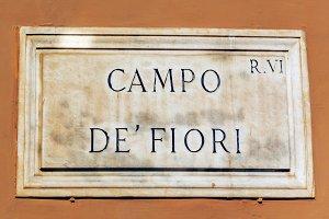 Campo de Fiori Plate in Rome
