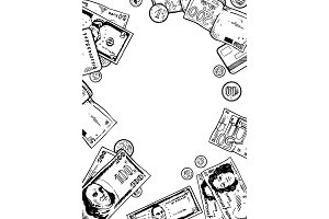 Money engraving vector illustration