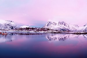 Winter Norway lake