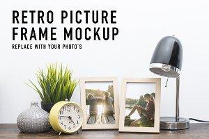 Retro picture frames template