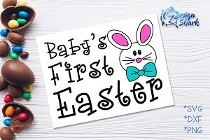 Baby's First Easter SVG/DXF/PNG