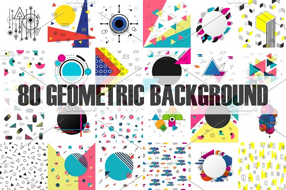 Square Geometric Background