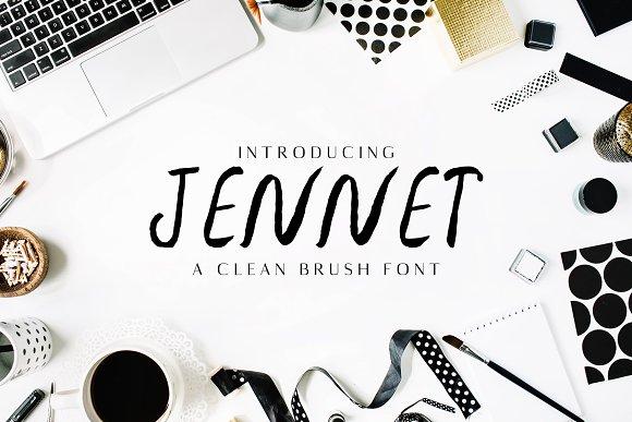 Jennet Brush 3 Font Family