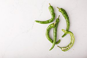 Green hot peppers