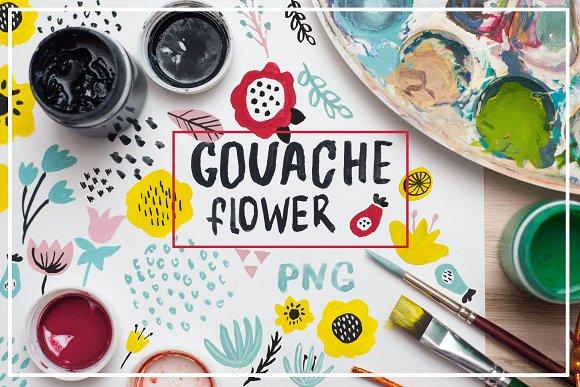 Spring Flowers Gouache Design