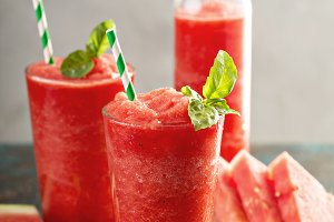 Refreshing cold summer drink watermelon slushie