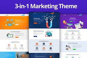 Marketon 3-in-1 Marketing HTML