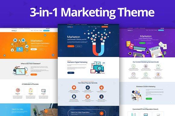 Marketon 3-in-1 Marketing HTML