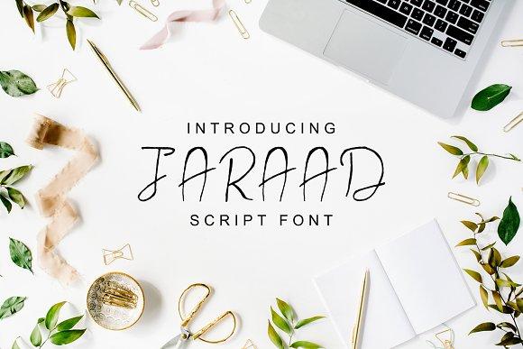 Jaraad Script 4 Font Family Pack