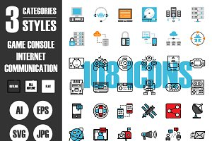 108 Icons×3 Styles Vol.1