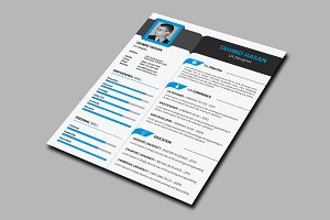 Corporate Resume With Business Card