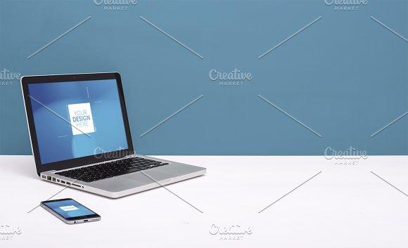 Simple Laptop Web Design Header
