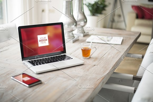 Interior Laptop Web Design Template