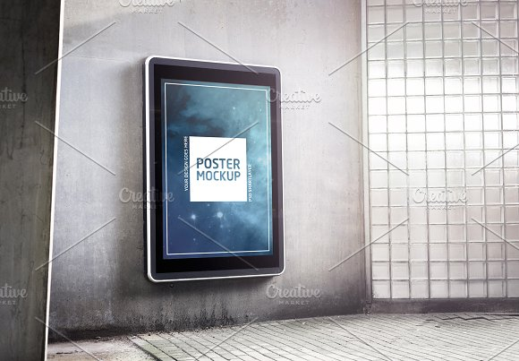 Outdoor Garage Advertising Mockup