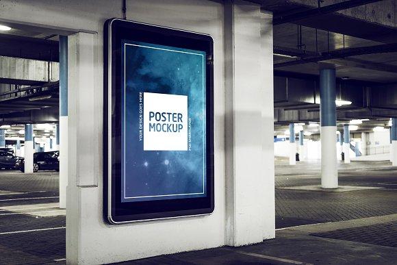 Industrial Garage Poster Mockup