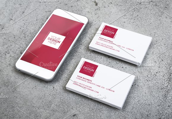 Mobile and business card design business card templates creative mobile and business card design business cards fbccfo