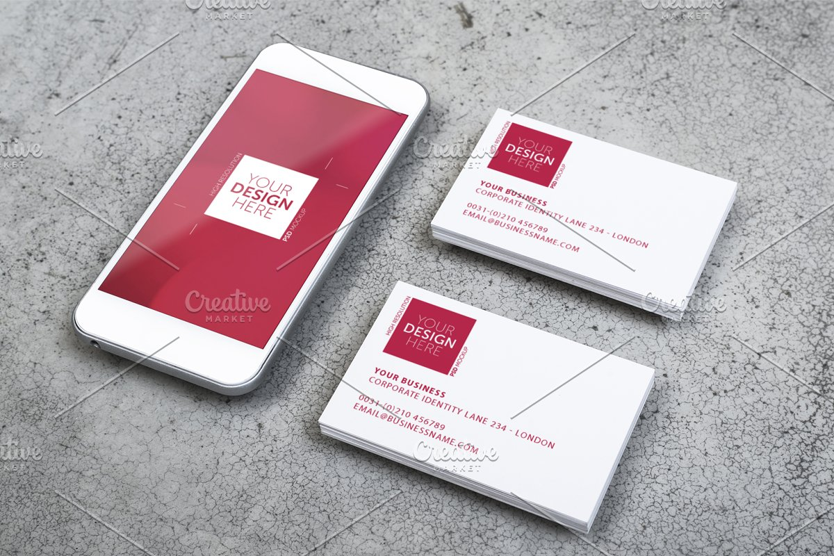 Mobile And Business Card Design Business Card Templates Creative