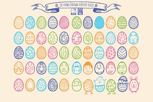 55 Hand Drawn Easter Eggs