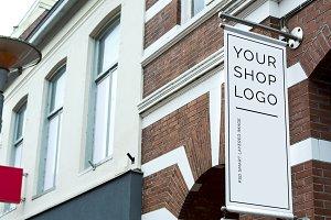 canvas shop logo design template