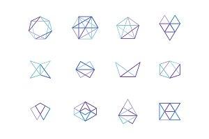 Geometric Line Logo Template