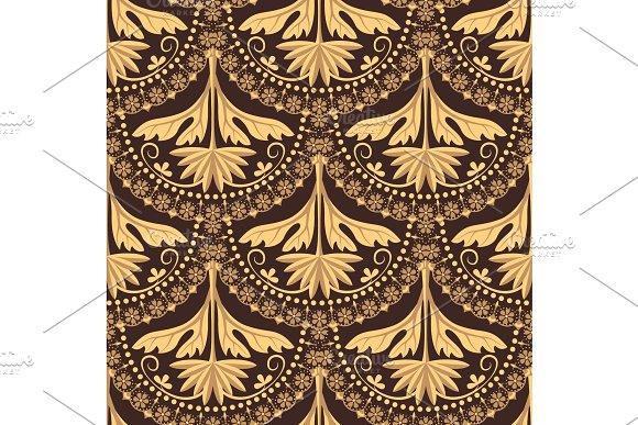 French Lace Seamless Pattern