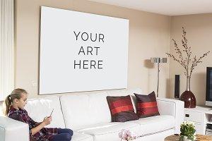 Art painting psd template
