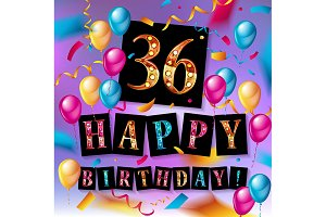 Сool 36 th birthday celebration
