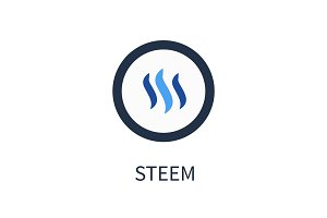 Steem Cryptocurrency Icon Vector Illustration